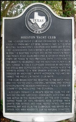 Houston Yacht Club Marker image. Click for full size.