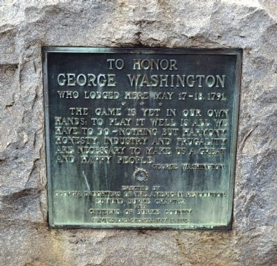To Honor George Washington Marker image. Click for full size.