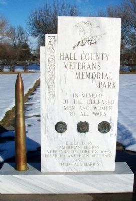 Hall County Veterans Memorial Park Monument image. Click for full size.