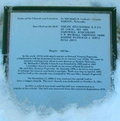 St. Michael's Catholic Church Bell Marker image. Click for full size.