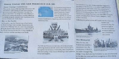 Heavy Cruiser USS San Francisco (CA38) Marker image. Click for full size.