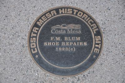 F.M. Bloom Shoe Repairs Marker image. Click for full size.