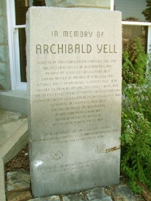 Archibald Yell Marker image. Click for full size.