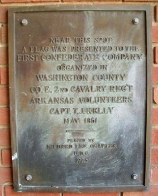 First Confederate Company Organized in Washington County Marker image. Click for full size.
