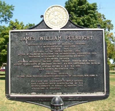James William Fulbright Marker image. Click for full size.