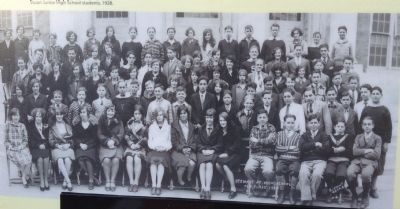 Stuart Junior High School Students, 1928 image. Click for full size.