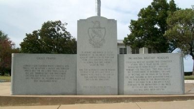 Oklahoma Military Academy War Memorial image. Click for full size.