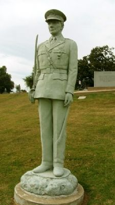 Oklahoma Military Academy Cadet Statue image. Click for full size.