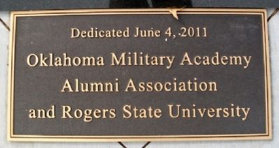 Oklahoma Military Academy KIA Memorial Sponsors image. Click for full size.