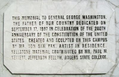 George Washington Memorial Dedication image. Click for full size.