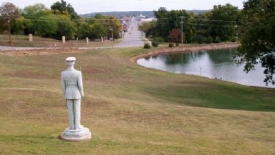 View from Oklahoma Military Academy War Memorial image. Click for full size.