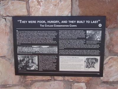 """They Were Poor, Hungry, and They Built to Last"" Marker image. Click for full size."