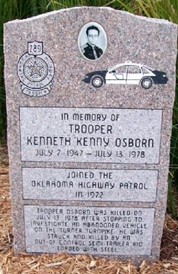 "Trooper Kenneth ""Kenny"" Osborn Memorial image. Click for full size."