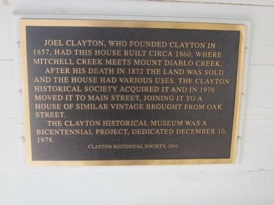 The Joel Clayton House Marker image. Click for full size.