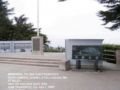 The USS San Francisco Memorial image. Click for full size.