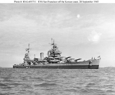 Heavy Cruiser USS San Francisco image. Click for full size.