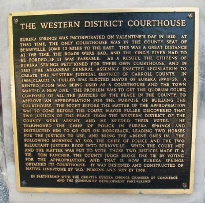 The Western District Courthouse Marker image. Click for full size.