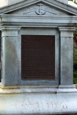 Jacksonville Confederate Monument, east face image. Click for full size.