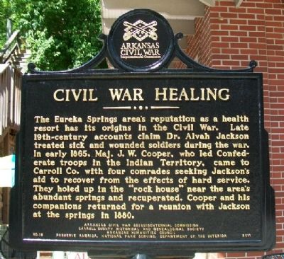 Civil War Healing Marker image. Click for full size.