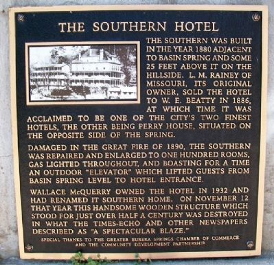 The Southern Hotel Marker image. Click for full size.