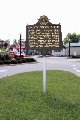 Side Two Wide View - - Larue County / County Officials --- 1843 Marker image. Click for full size.