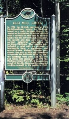 Old Mill Creek Marker image. Click for full size.