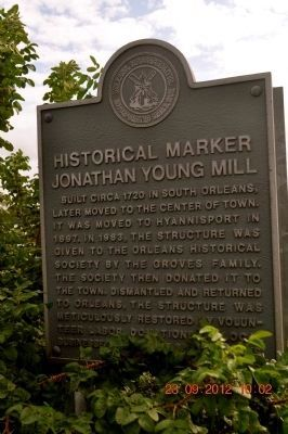 Jonathan Young Mill Marker image. Click for full size.