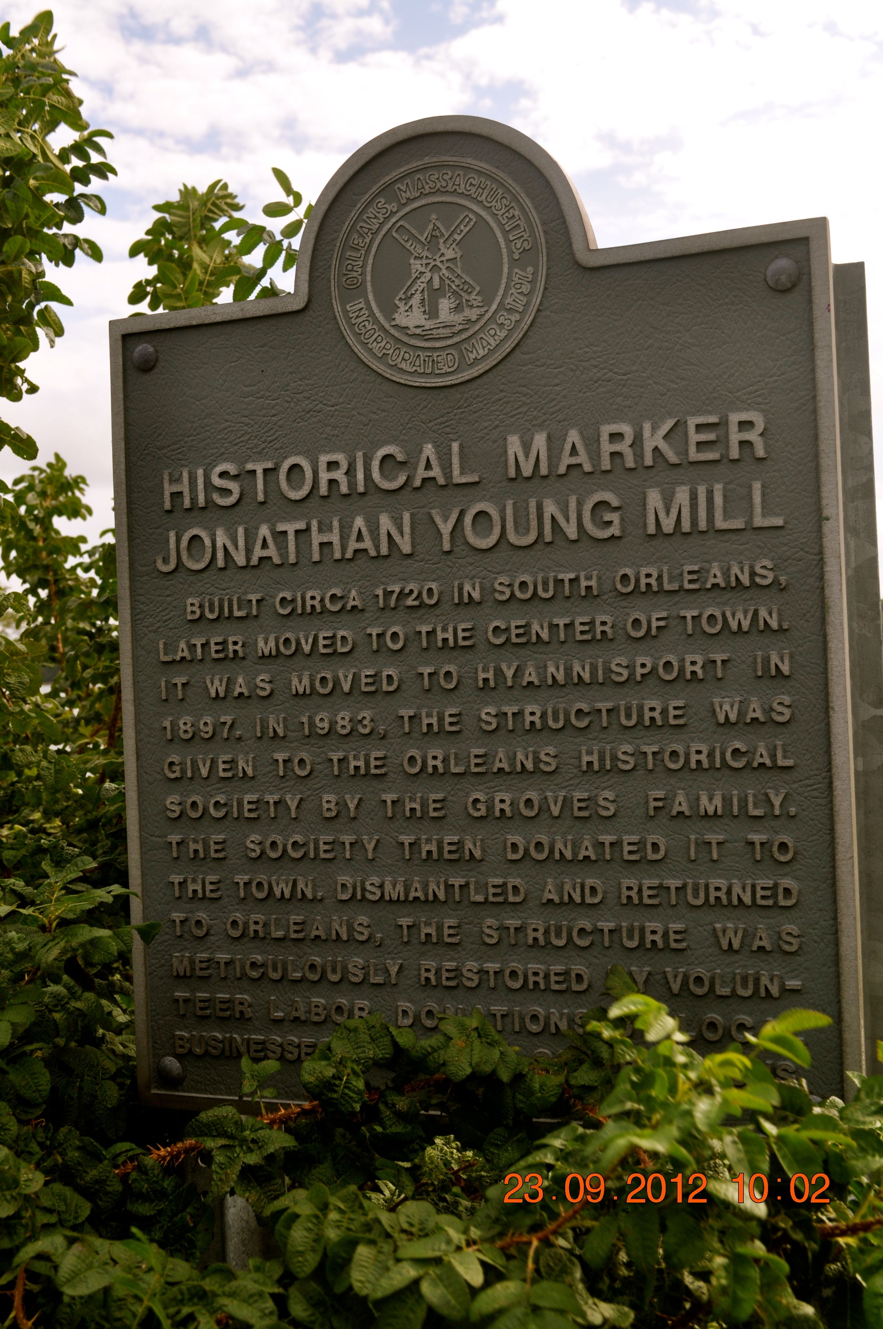 Jonathan Young Mill Marker