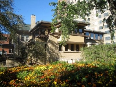 The Emil Bach House is on the National Register of Historic Places and is a Chicago Landmark image. Click for full size.