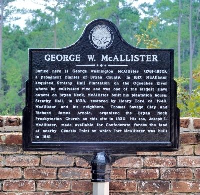 George W. McAllister Marker image. Click for full size.