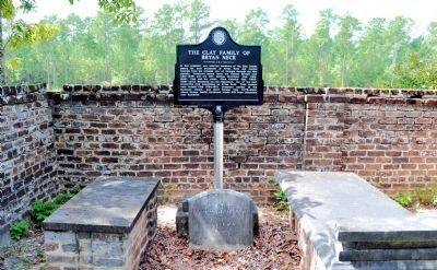 The Clay Family of Bryan Neck Marker image. Click for full size.
