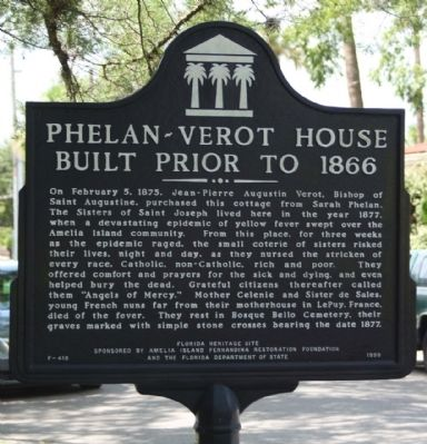 Phelan-Verot House Built Prior to 1866 Marker image. Click for full size.