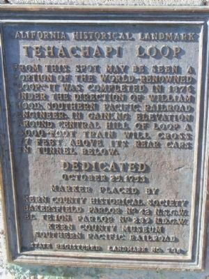 Tehachapi Loop Marker image. Click for full size.