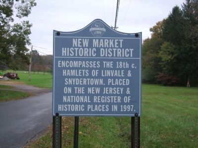 New Market Historic District Marker image. Click for full size.