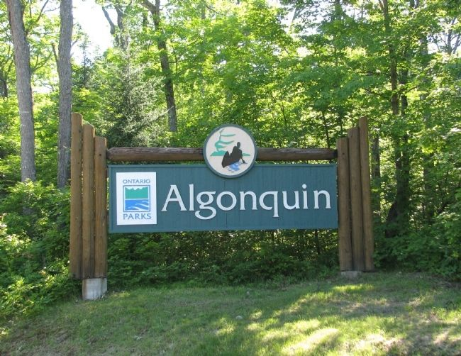 Algonquin Provincial Park Entrance image. Click for full size.