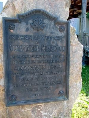 Alexander Kirkwood Memorial image. Click for full size.