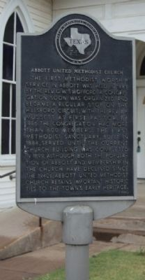 Abbott United Methodist Church Marker image. Click for full size.