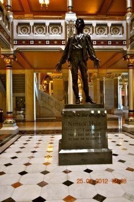 Nathan Hale Statue inside Hartford, Connecticut Capitol Building image. Click for full size.