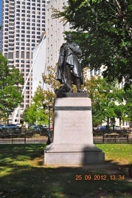 Horace Wells Statue located Bushnell Park Hartford, CT image. Click for full size.