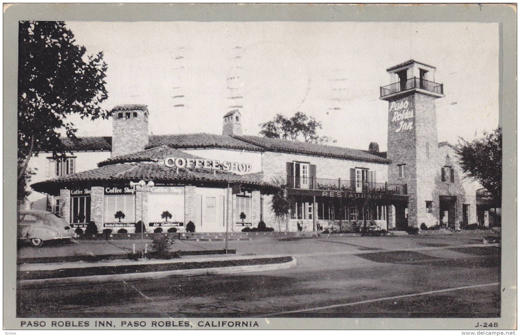 Postcard View of The Paso Robles Inn