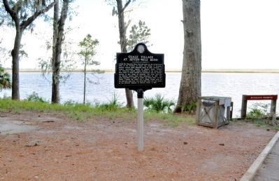 Guale Village at Seven-Mile Bend Marker image. Click for full size.