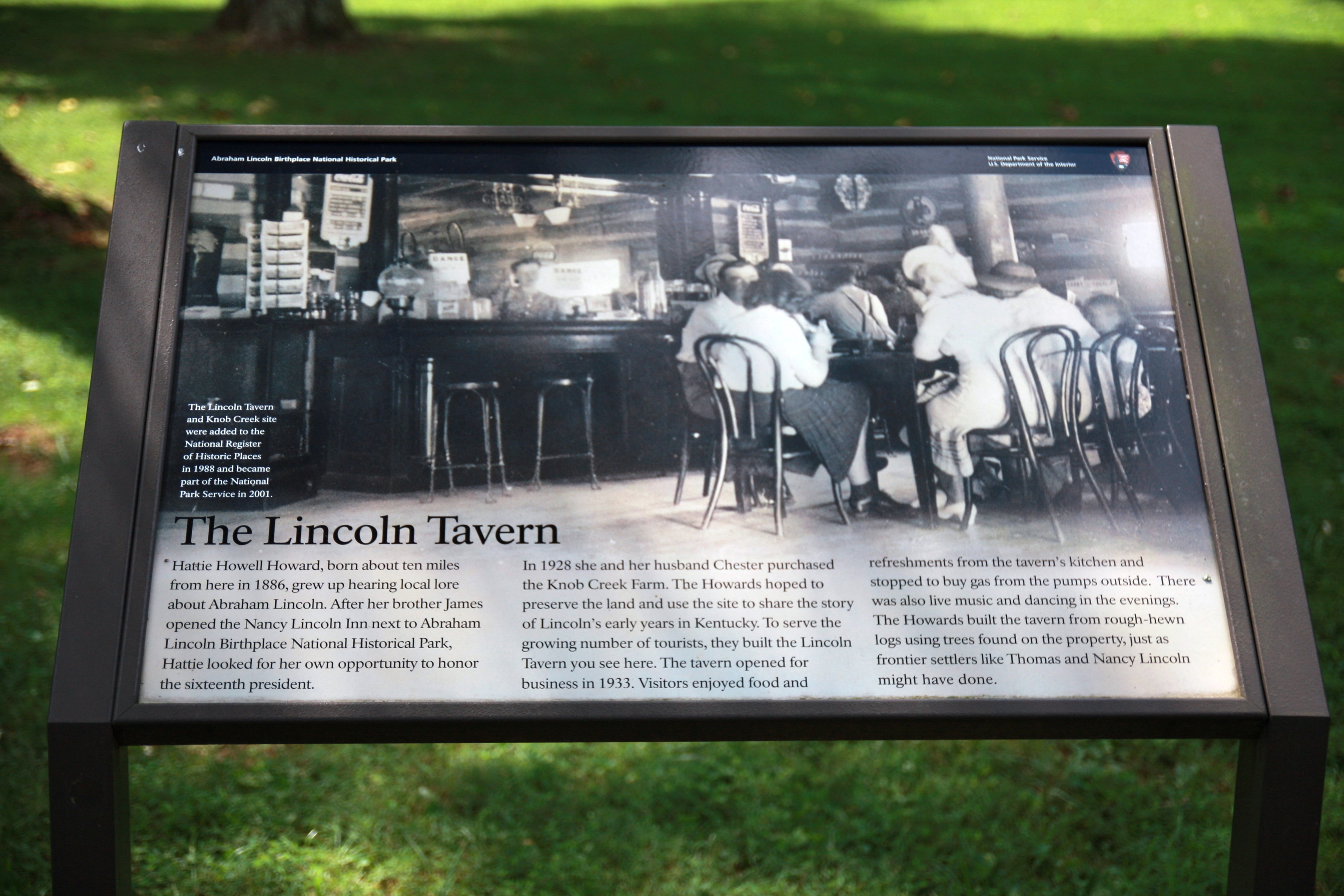 The Lincoln Tavern Marker
