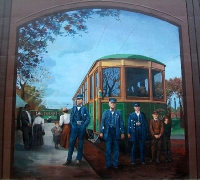 Early 1900s Streetcar Mural image. Click for full size.