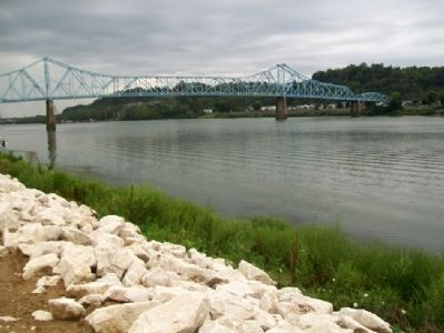 View of Ohio River and Ironton-Russell Bridge image. Click for full size.