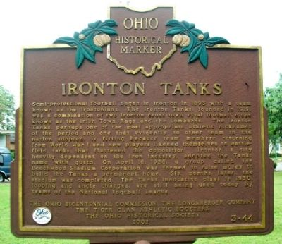 Ironton Tanks Marker (Side A) image. Click for full size.