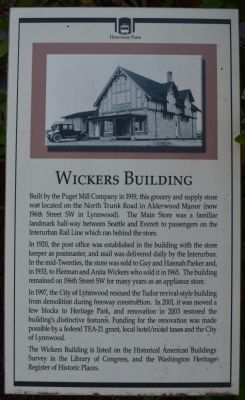 Wickers Building Marker image. Click for full size.