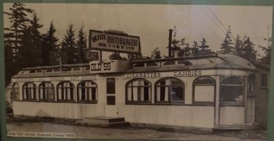 "Old ""55"" Diner, Everett, Circa 1950 image. Click for full size."