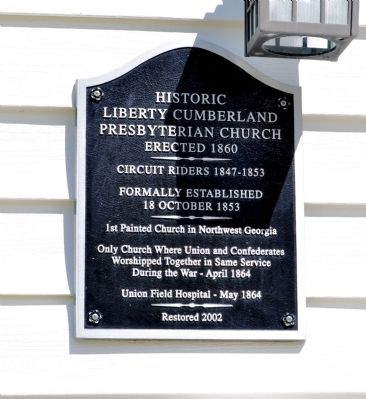 Historic Liberty Cumberland Presbyterian Church Marker image. Click for full size.