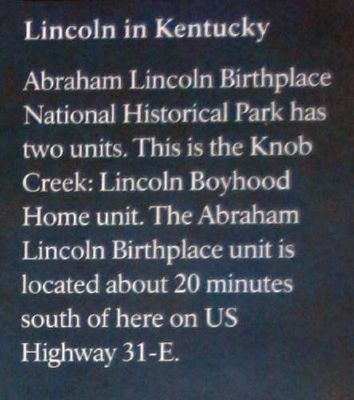 Insert - Lincoln in Kentucky image. Click for full size.