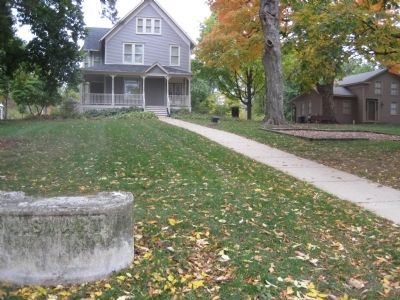 The Indian Boundary Line is in front of the Downers Grove Park District Museum image. Click for full size.
